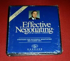 NEW & SEALED Effective Negotiating by Dr. Chester Karrass 6 CD Set AUDIOBOOK