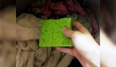 tap water, soak sponge in solution,squeeze excess liquid out and toss in dryer in place of dryrer sheets