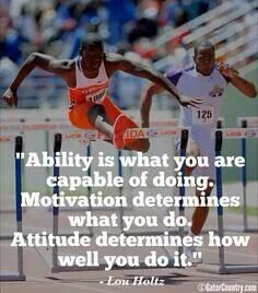 Ability is what you are capable of doing. Motivation determines what you do. Attitude determines how well you do it.
