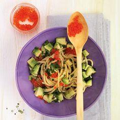 Spaghetti mit Avocado und Kaviar Rezept | Küchengötter