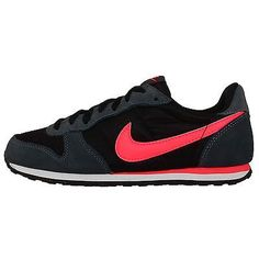 Nike Wmns Genicco Black Pink 2014 Womens Retro Running Shoes Casual Sneakers