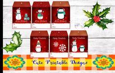 Printable Gift Tag,Christmas Tags, Cute Tags, Christmas, TAGNAVI-KENA-105 de CutePrintableDesigns en Etsy