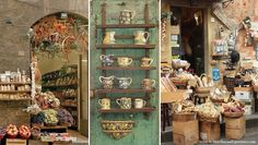 Tuscany's small shops, called botteghe...