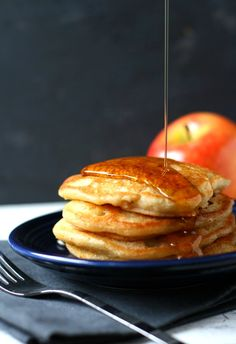 A recipe for vegan apple cinnamon pancakes that's allergy friendly, no eggs or dairy required! These wonderful pancakes are perfect for a weekend breakfast.