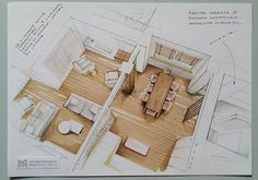 Marvelous Home Design Architectural Drawing Ideas. Spectacular Home Design Architectural Drawing Ideas. Croquis Architecture, Interior Architecture Drawing, Interior Design Renderings, Architecture Concept Drawings, Drawing Interior, Interior Rendering, Interior Sketch, Architecture Design, Interior Presentation