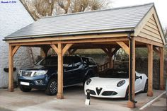 Designing your own SolidLox Post and Beam Timber Carports is easy. View our example designs and case studies to stir your own imagination. Building A Carport, 2 Car Carport, Carport Plans, Carport Garage, Pergola Carport, Garage Plans, Double Carport, Garage Extension, Carport Designs
