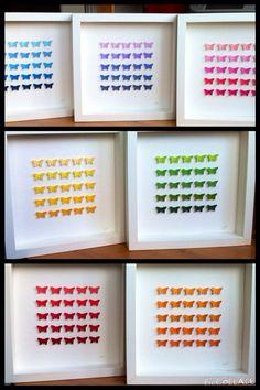 Check out Rainbow butterflies set / 3D paper butterflies / wall art/ home decor / wedding / nursery decor / rainbow set on gosiaandhelena