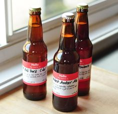 Hello! My Name Is... Use Name Tag Stickers as Easy Labels for Homebrews Beer Sessions   The Kitchn