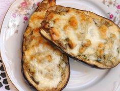 Csirkés-gombás töltött padlizsán Baked Potato, Quiche, Food And Drink, Pizza, Gluten Free, Favorite Recipes, Baking, Breakfast, Ethnic Recipes