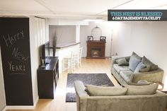 6 Day Basement Makeover! Basement Makeover, Basement Renovations, Interior Design Shows, Finish Line, Hgtv, Home Projects, Room, Home Decor, Bedroom