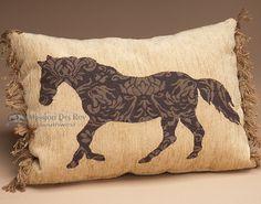 Rustic Western Ranch Designer Pillow 12x16 (wp18)