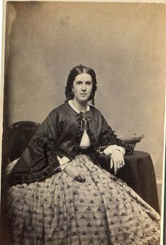 Vintage CDV Photograph Civil War Era Lady by KnitsandPics on Etsy
