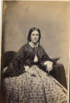 Vintage CDV Photograph Civil War Era Lady by KnitsandPics on Etsy