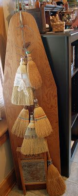 Berry Homespun Primitives: My little broom collection...