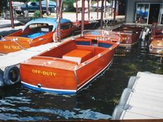 Our 1941 22' Chris Craft Utility....Off Duty in its berth at Lake Hopatcong.