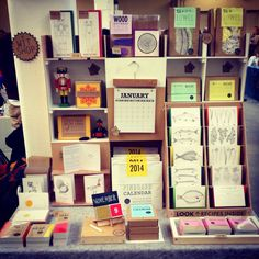 A great small space display. Renegade craft fair at the old Truman Brewery London Nov 2013.