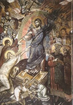 Christ is risen! Byzantine Icons, Byzantine Art, Religious Icons, Religious Art, Life Of Christ, Jesus Christ, Holy Saturday, Russian Icons, Religious Paintings