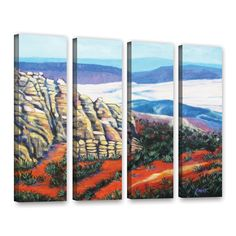 ArtWall 'Gene Foust's Rocky Mountain Living' 4-piece Gallery Wrapped Set