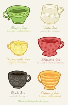 Consider alternating between green, white and oolong? Idk, more research, I can't choose which is best. haha.