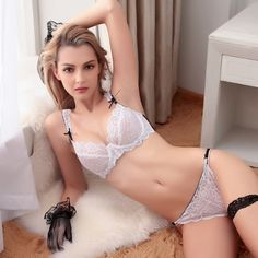France New Young Sexy Bra Bandage Lace Womens Underwear Set Embroidery Lingerie For Women Ultrathin Brassiere White Gauze Profit Small Back To Search Resultsunderwear & Sleepwears