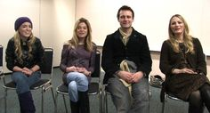 Dead Like Me - Life After Death. Britt McKillip, Ellen Muth, Callum Blue and Sarah Wynter at NY Comic Con 2009.