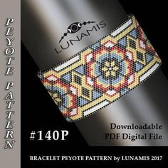 Peyote bracelet pattern odd count peyote pattern stitch