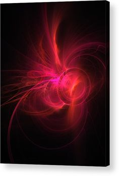 Birth Of Red Star Acrylic Print by Marina Usmanskaya. All acrylic prints are professionally printed, packaged, and shipped within 3 - 4 business days and delivered ready-to-hang on your wall. Choose from multiple sizes and mounting options. #MarinaUsmanskyaFineArt Digital Art Art prints, Art For Home, Red ,Star,Fractal,Acrylic Print