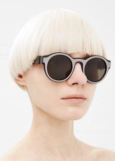 totokaelo: Maison Martin Margiela X Mykita Two-Tone Sunglasses at Totokaelo