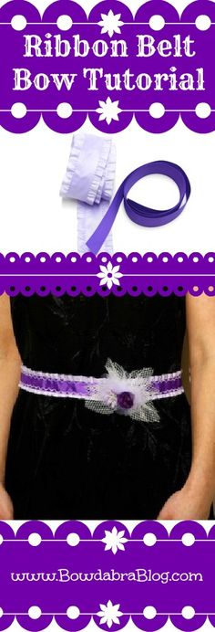 Ribbon Belt with Bow Tutorial