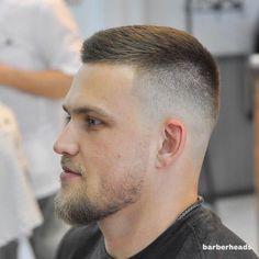 Trendy Simple Blonde Haircuts for Men Crew Cut Haircut, Short Fade Haircut, Textured Haircut, Beard Haircut, Short Beard, Blonde Haircuts, Cool Haircuts, Haircuts For Men, Hair And Beard Styles