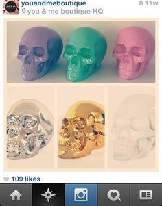 Hmmm...I want every colour! #skulls