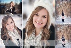 High Senior Girl in the Snow