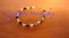 Purple Madagascar Agate and Opalite Bracelet - Jewelry - Banded - Swirl - grounding - self acceptance - clarity - hope - strength - anxiety