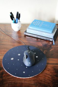 Lovely Clusters - The Pretty Blog: DIY: Constellation Star Mouse Pad