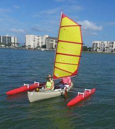 Turn a canoe into a sailboat.