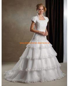 Traumhafte 2013 Brautkleider aus Organza und Satin mit Schleppe