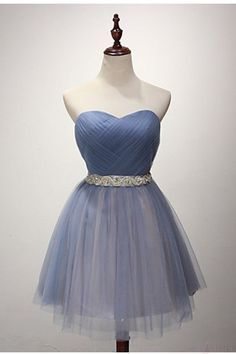 Strapless Prom Dresses, Prom Dresses Short, Short Prom Dresses, Knee Length Prom Dresses, #shortpromdresses, Hot Prom Dresses, Tulle Prom Dresses, Prom dresses Sale
