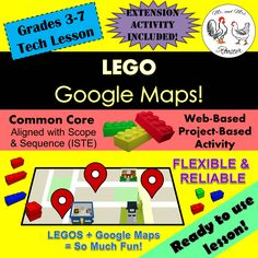 Build Lego buildings on Google Maps!  In this lesson you have the flexibility to offer a stand-alone lesson of constructing Lego structures or incorporate a geography lesson by reading maps before building your structure. {Technology Lesson}