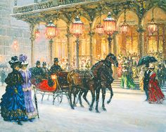 Paintings by Alan Maley | Alan Maley - Sleigh Bells I'm lucky enough to have this my private collection number 50 of 50 oil print on canvas signed by Alan shortly before his death.
