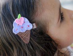 Ice Cream Cone Hair Clip Meet Miss Yum MORE COLORS