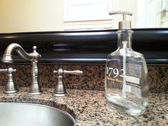 1792 Ridgemont Reserve bottle re-puposed into soap dispenser! Unique touch for your kitchen or bath! Great gift idea! Click photo for purchase info!