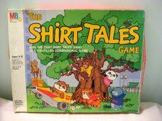 Shirt Tales. 1980-1984. Milton Bradley board game.  #80s #cartoons #shirttales