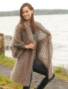 """Sheer Bliss - Knitted DROPS jacket with blackberry pattern and shawl collar in """"Vienna"""" OR """"Melody. - Free pattern by DROPS Design Knitted Coat, Crochet Jacket, Crochet Cardigan, Knit Or Crochet, Crochet Scarves, Crochet Shawl, Crochet Clothes, Lace Jacket, Knit Cowl"""