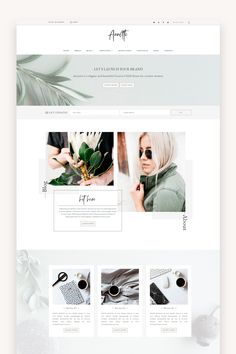 Feminine WordPress themes for creative business owners - Lovely Confetti Site Web Design, Blog Website Design, Layout Design, Custom Web Design, Website Design Layout, Wordpress Website Design, Blog Layout, Web Design Tips, Web Design Trends