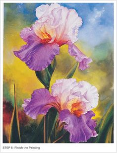 Painting Vibrant Flowers in Watercolor. Soon Y. Warren.