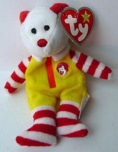 806f20098aa Beanie Baby Ronald McDonald TY Bear 2004 Rare