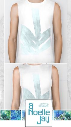 """Check out this biker tank T-shirt called """"Ice Blue Fern in Summer White"""" by ANoelleJay (@anoellejay) @society6 fashion and decor art for your spring break travels! https://society6.com/product/ice-blue-fern-in-summer-white_long-sleeve-tshirt#s6-7139618p39a48v354a49v360a50v367"""
