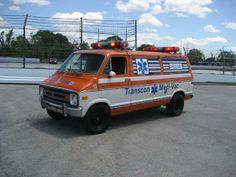 ambulance from cannonball run   1978 Dodge Cannonball Run Ambulance Orange / White