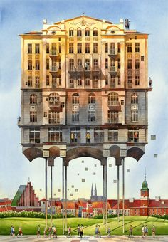 Tytus Brzozowski – an architect and artist from Poland – uses elements from the past and present to recreate and reimagine Warsaw's 19th century charm.