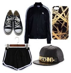"""Untitled #2"" by pizza10 on Polyvore featuring adidas Originals, Converse, Moschino and Khristian Howell"